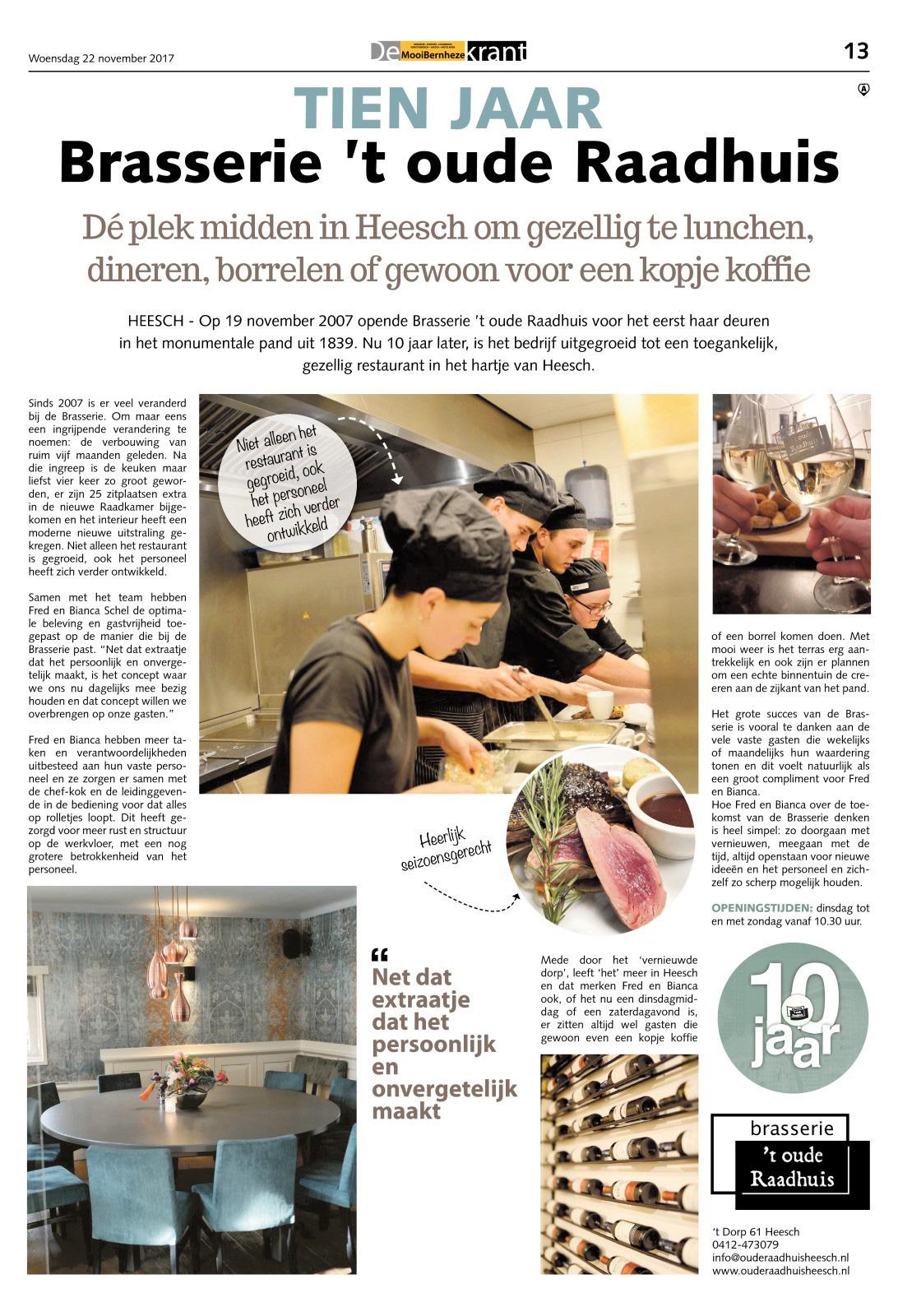 brasserie-'t-oude-raadhuis-10-jaar-centrum-heesch